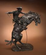 Frederic Remington (1861-1909) Bronco Buster #16, Bronze, 33.25 inches.