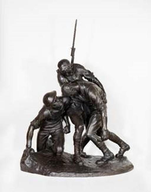 Gertrude Vanderbilt Whitney (American, 1875–1942) Model for War Memorial, Washington Heights 1921-1922 Bronze 42x 31 1/2 x 28 in.  Private collection