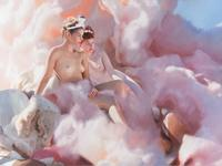 Will Cotton, Consuming Folly, 2010.  Oil on linen, 72 x 96 inches.  Courtesy the artist and Mary Boone Gallery, New York