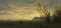 Albert Bierstadt (American, born Germany, 1830–1902), Indian on Horseback, ca.  1870-80, oil on canvas, Gift of Norm W.  Waitt, Jr.