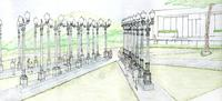 CHRIS BURDEN, LIGHT OF REASON, CONCEPTUAL SKETCH, 2013 (DETAIL).  COURTESY OF CHRIS BURDEN STUDIO.
