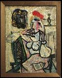 "Pablo Picasso's ""Seated Woman with Red Hat"" was rediscovered at The Evansville Museum of History & Science."