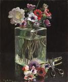 Julian Alden Weir (American, 1852–1919), Still Life with Anemones, The Huber Family Collection