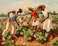 Thomas Hart Benton (1889-1975) Choppin' Cotton, 1931.  Tempera on board.  Courtesy of the Warner Foundation.
