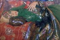 Firooz Zahedi, Elizabeth Taylor/Odalisque I, 1976.  Printed 2011.  Chromogenic print, 32 x 46 inches.