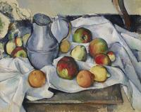 Paul Cézanne (1839 – 1906), Bouilloire et Fruits (Pitcher and Fruits), 1888-90, oil on canvas, 19 3/4 x 24 in.  (50 x 61 cm).