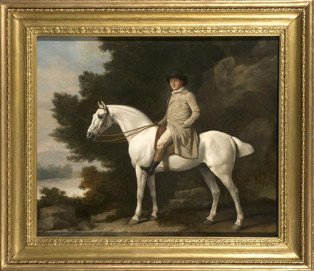 GEORGE STUBBS (1724 – 1806) Portrait of a Gentleman upon a Grey Hunter.