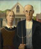 "Grant Wood, ""American Gothic,"" 1930."