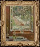 """Henri Le Sidaner, """"Le Fenetre aux oeuillets"""" 1908."""