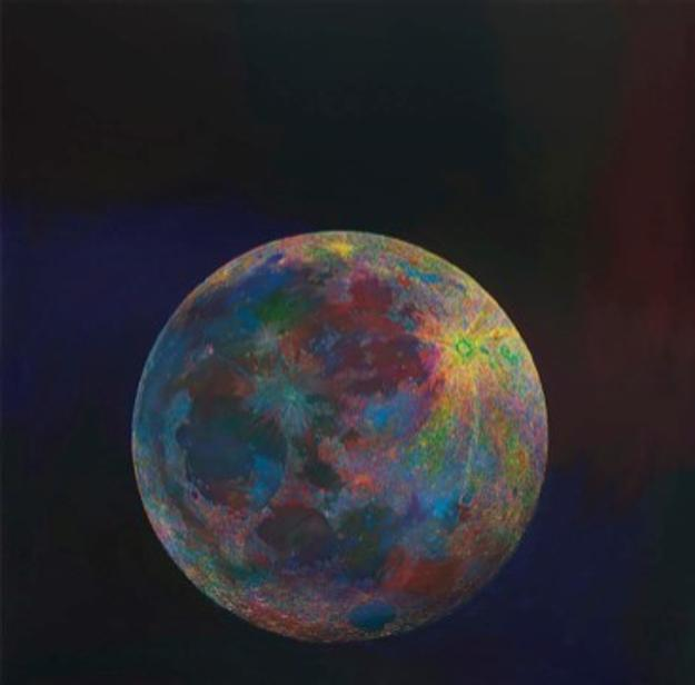 Wang Yuyang, Moon201808, 2018 Oil on canvas, 200x200cm Courtesy the artist and Massimo De Carlo, Milan/London/Hong Kong