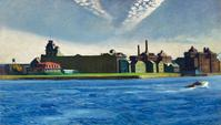 "Edward Hopper's 1928 oil painting ""Blackwell's Island."""