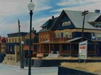 Edward Hopper's East Wind over Weehawken.