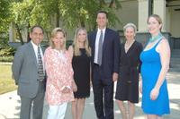 Left to right: Show manager Frank Gaglio, Deborah Royce, Tiffany Burnette, Don Casturo, Anne Niemeth and Roxanne Vanderbilt.