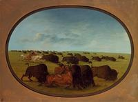 George Catlin, Buffalo Chase.