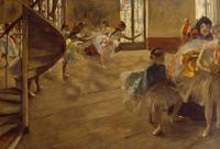 Edgar Degas, 'The Rehearsal', c.  1874.  Oil on canvas, 58.4 x 83.8 cm.  Lent by Culture and Sport Glasgow on behalf of Glasgow City Council.  Gifted by Sir William and Lady Constance Burrell to the City of Glasgow, 1944.  Image © Culture and Sport Glasgow (Museums).