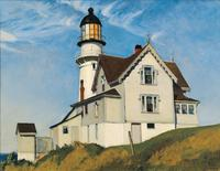 Edward Hopper, Captain Upton's House, 1927.  Oil on canvas, 28 x 36 in.  (71.1 x 91.4 cm).  Private Collection.