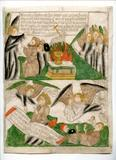 19 MIN Blockbook Apocalypse -28r RE single leaves BEFORE THE KING JAMES BIBLE at LES ENLUMINURES