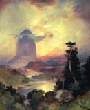 Thomas Moran (1837-1926), Devil's Tower, 1919, oil on canvas, 20.5 x 16.25.  Estimate: $1,200,000-$2,000,000