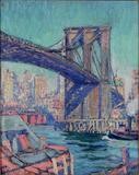 Felicie Waldo Howell (1897-1968), Brooklyn Bridge, ca.  1930, Oil on canvas, 20 x 16 inches, Signed lower left | Exhibitor: MME Fine Art