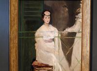 "Manet's ""Portrait of Mademoiselle Claus,"" detail."