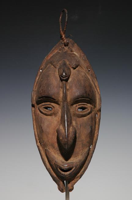 "Lower Sepik River mask, 12"", early 20th c."