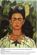 Frida Kahlo, Self Portrait with Thorn Necklace and Hummingbird, 1940, Oil on canvas