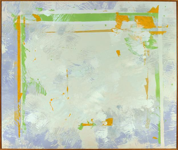 Walter Darby Bannard, The Plains #2, 1970, Alkyd resin on canvas, 78 x 92 inches.  Courtesy of Berry Campbell Gallery.