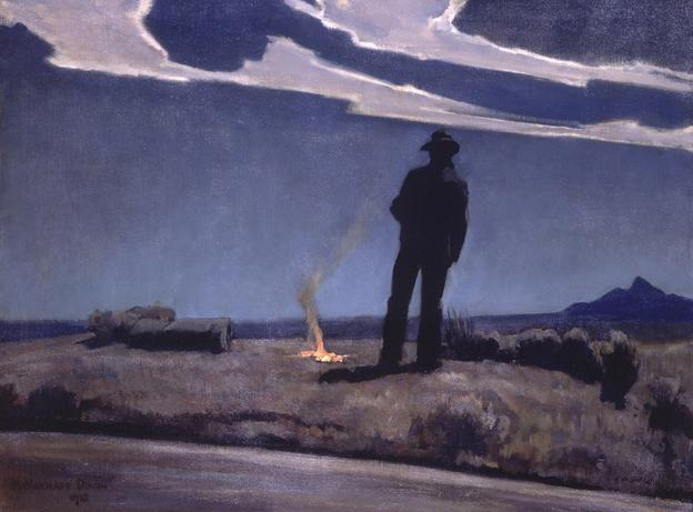 Maynard Dixon (1875–1936) Roadside, 1938 Oil on canvas, 30¼ × 40¼ in.  Brigham Young University Museum of Art, Provo, Utah, 1974