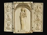 Mother of God with Saints, also known as The Werhner Triptych, 900s, Byzantine, Ivory, British Museum, 1978,0502.10