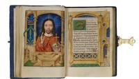 Christ in Majesty, Master of the David Scenes of the Grimani Breviary, Bruges, circa 1490-1505, 96 x 65 mm.