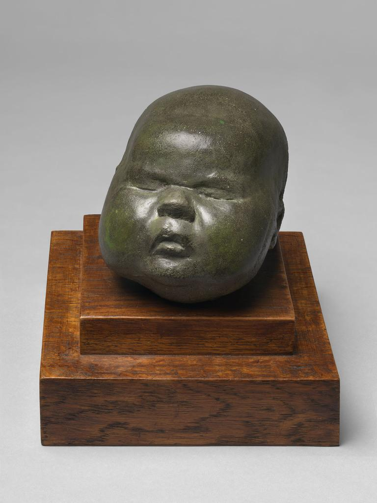 Baby's Head, 1926, Cast concrete, unique, ref.  LH-35, 10.16 x 10.16 x 15.24 cms (4 x 4 x 6 in).  Courtesy of Osborne Samuel Gallery.