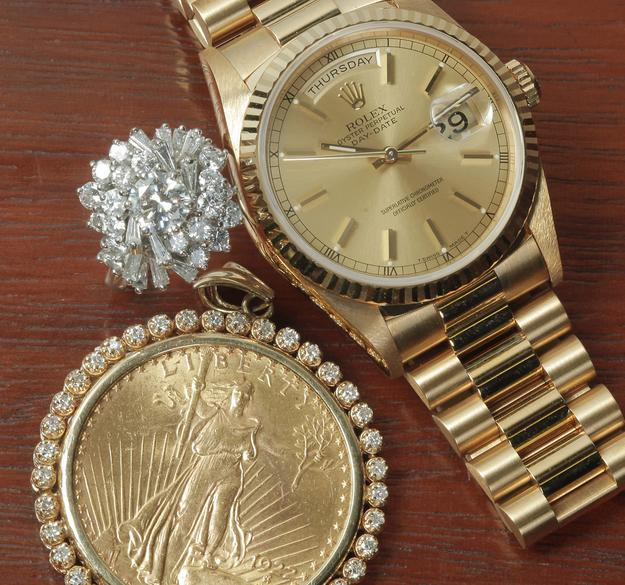 Items for him and her at the December 9th Fine & VIntage Jewelry Auction with Gems, Timepieces, Coins, Couture, & more.