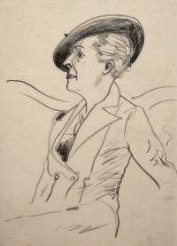 Peggy Bacon, Djuna Barnes, about 1940