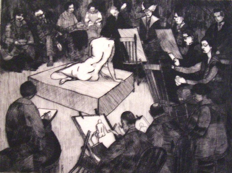Sketch Class at the League, 1919