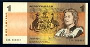 This Serial #1 Reserve Bank of Australia ND $1 banknote from 1979 will be sold at auction on Tuesday, March 10, by Archives International Auctions in Fort Lee, N.J.