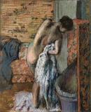 Après le bain (femme s'essuyant) by Edgar Degas