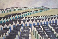 Judith Shahn, Beach Cabanas, 1951