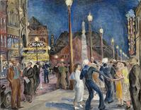 Beatrice Cuming, Saturday Night, New London, 1938, Collection of the Lyman Allyn Museum