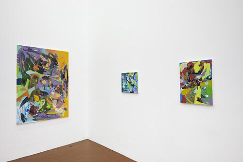 "Installation view - Kristopher Benedict ""TREE STREETS"" at David Richard Gallery"