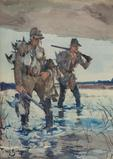 Frank W.  Benson (1862-1951), Two Duck Hunters, 1926, watercolor, 24.25 by 17.5 inches ($92,000)