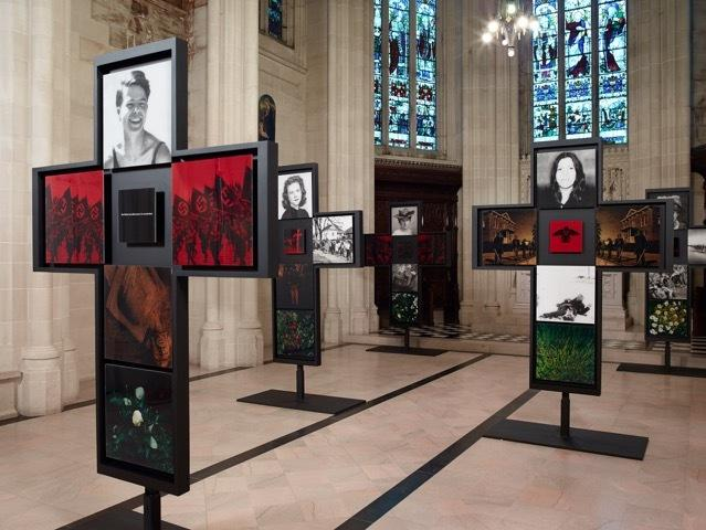 """5 Wounds"" by Bettina WitteVeen on view at The Cathedral of St.  John the Divine, NYC.  Photo Credit: Jeffrey Sturges"