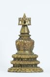 STUPA Gilt copper alloy Tibeto-Chinese Ming, second quarter of the 15th century Height 55 cm (21.65 in.)