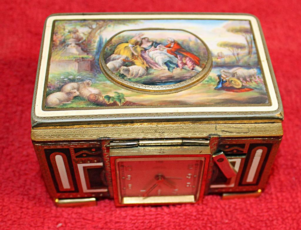 This rare bird music box is just one of hundreds of collectible items from Preston Evans's massive lifetime collections.