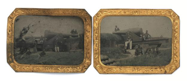 Rare tintype pair of Black Soldiers of the 54th Connecticut Civil War troop to be auctioned March 4 to 18 by Witherell's.