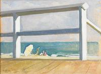 Boardwalk, Mildred Miller (1892-1964), c.  1935, oil on canvas.  Collection of Roy Pedersen.