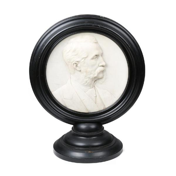 Marble portrait of the prominent Canadian lawyer, author and politician Henry Corry Rowley Becher (1817-1885) by Sir Joseph Edgar Boehm (1834-1890) (est.  $6,000-$8,000).