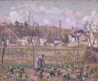 CAMILLE PISSARRO (1830-1903) Le Jardin de Maubuisson, Pontoise, la Mère Bellette 21 7/16 x 25 7/8 in.  Painted in 1882.  Est.  $1,500,000-2,000,000