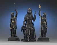 Bronze Isis by Emile-Louis Picault