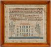 Virginia Miles' 1844 sampler sold for $18,400 at Brunk Auctions