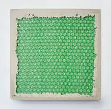 Frank Zadlo, Rapt, 2012, Cement and bubble wrap, 10 x 10 x 1 inches